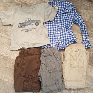 Old Navy Boys 4T Lined Pants Collared Shirt Set